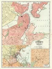 New England Map By Rand McNally & Company