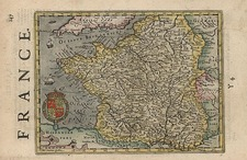 Europe and France Map By Henricus Hondius - Gerhard Mercator