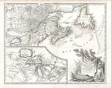 New England, Midwest and Canada Map By Didier Robert de Vaugondy