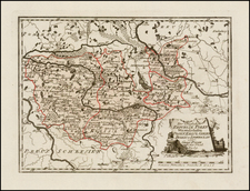 Poland Map By Franz Johann Joseph von Reilly