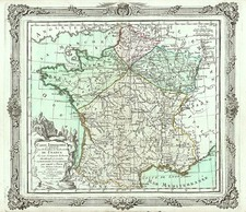 Europe and France Map By Louis Brion de la Tour