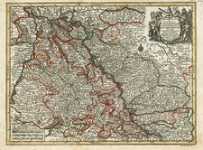 Europe and Germany Map By Matthaus Seutter