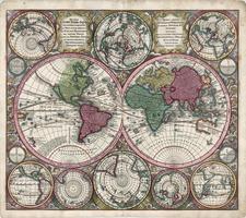 World and World Map By Matthaus Seutter