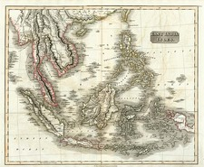 Asia, China, Southeast Asia, Philippines, Australia & Oceania and Other Pacific Islands Map By John Thomson