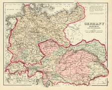 Europe, Switzerland, Germany and Austria Map By Frank A. Gray