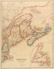 Canada Map By John Arrowsmith