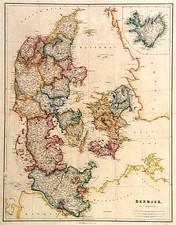 Europe and Scandinavia Map By John Arrowsmith