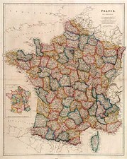 Europe and France Map By John Arrowsmith