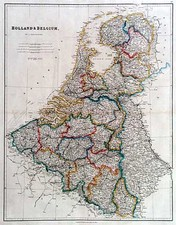 Europe and Netherlands Map By John Arrowsmith