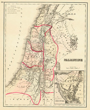 Asia and Holy Land Map By O.W. Gray