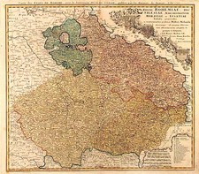Europe, Germany, Poland and Czech Republic & Slovakia Map By Johann Baptist Homann