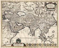 Asia, Asia, India, Southeast Asia and Central Asia & Caucasus Map By Nicholaus Blankaart