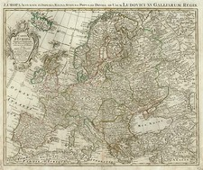 Europe and Europe Map By Johannes Covens  &  Cornelis Mortier
