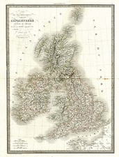 Europe and British Isles Map By Alexandre Emile Lapie