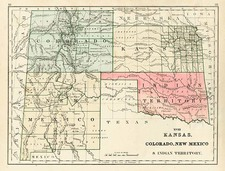Plains, Southwest and Rocky Mountains Map By Rand McNally & Company