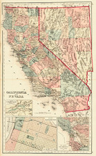 California Map By O.W. Gray & Son