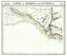 Mexico and Central America Map By Philippe Marie Vandermaelen