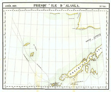 Alaska Map By Philippe Marie Vandermaelen
