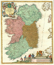 Europe and British Isles Map By Johann Baptist Homann