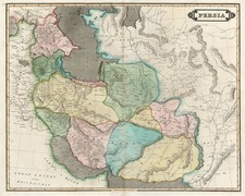 Europe, Russia, Asia, Central Asia & Caucasus, Middle East and Russia in Asia Map By Daniel Lizars