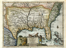 United States, South, Southeast and Texas Map By Pieter van der Aa