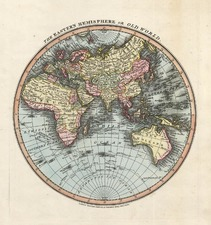 World, Eastern Hemisphere, Australia & Oceania and Oceania Map By William Darton