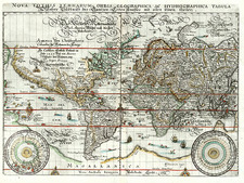World and World Map By Matthaus Merian