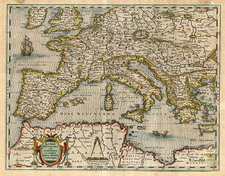 Europe, Europe, Mediterranean and Balearic Islands Map By Matthaus Merian