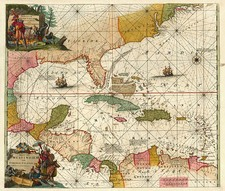 South, Southeast, Caribbean and Central America Map By Louis Renard