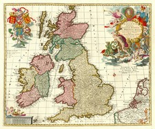 Europe and British Isles Map By Peter Schenk