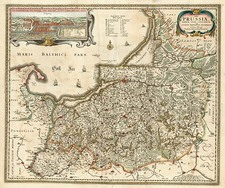 Europe, Germany, Poland and Baltic Countries Map By Nicolaes Visscher I