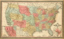 United States and California Map By Thomas, Cowperthwait & Co.