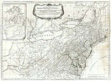 Southeast, Midwest and Canada Map By Lewis Evans / Sayer & Bennett