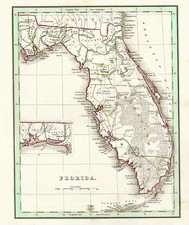 Southeast Map By Thomas Gamaliel Bradford