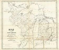 Midwest Map By David Hugh Burr