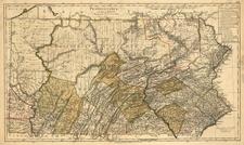 Mid-Atlantic Map By Daniel Friedrich Sotzmann