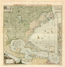 United States, North America and Canada Map By Henry Popple - Austen & Willdey
