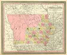 Midwest and Plains Map By Thomas, Cowperthwait & Co.