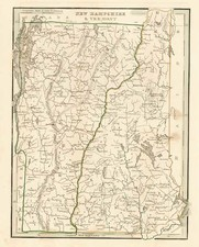 New England Map By Thomas Gamaliel Bradford