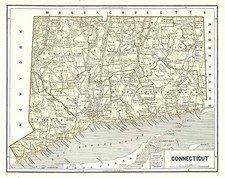 New England Map By Sidney Morse  &  Samuel Breese