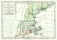 New England Map By Louis Brion de la Tour