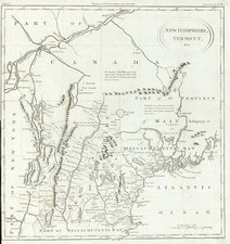 New England Map By Thomas Conder
