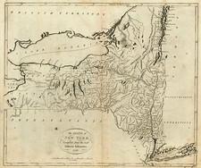 New York State Map By John Reid