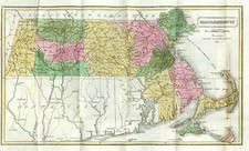 New England Map By Dorr, Howland & Company