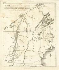 New England and Canada Map By C.P. Wayne / John Marshall