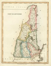 New England Map By Fielding Lucas Jr.
