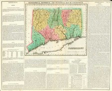 New England Map By Henry Charles Carey  &  Isaac Lea