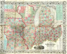 Midwest and Plains Map By Joseph Hutchins Colton / J. Calvin Smith