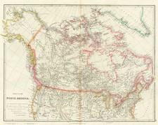 Plains, Alaska and Canada Map By John Arrowsmith