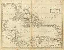 South, Southeast, Caribbean and Central America Map By John Reid